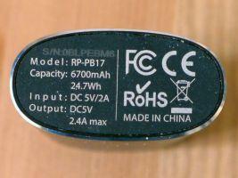 RavPower Luster RP-PB17 - Unterseite